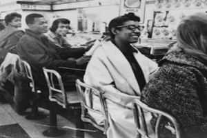 Dr. Terry Spurlin-Moore's cousin Novella Page (center with glasses) participated in the Nashville Sit-Ins. (Image Courtesy of the Library of Congress)